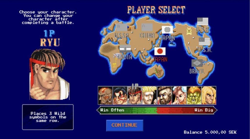 Street Fighter 2 The World Warrior-พนัน